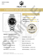 Diamond Mens Rolex Datejust Watch 16200 | 36Mm | Black Roman Numeral Dial | Jubilee Band