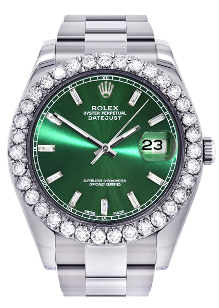 Rolex Datejust II Watch | 41 MM | Custom Green Dial | Oyster Band