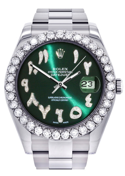 Rolex Datejust II Watch | 41 MM | Custom Green Arabic Dial | Oyster Band