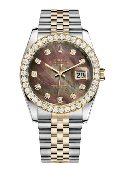 Rolex Datejust Mother Of Pearl Dial - Diamond Hour Markers With 4 Carats Of Diamonds