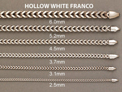 Hollow Mens Franco Bracelet 10K White Gold Men's Gold Bracelets FROST NYC