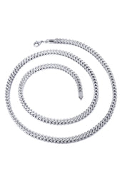 14K White Gold Chain - Hollow Diamond Cut Franco Chain MEN'S CHAINS FROST NYC