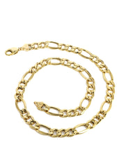 10K Gold Chain Solid Figaro