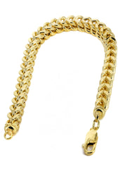 14K Gold Bracelet Hollow Franco Men's Gold Bracelets FROST NYC