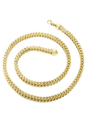 14K Gold Chain - Hollow Yellow Franco Chain MEN'S CHAINS FROST NYC