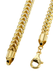 Gold Chain - Mens Hollow Diamond Cut Franco Chain 10K Gold