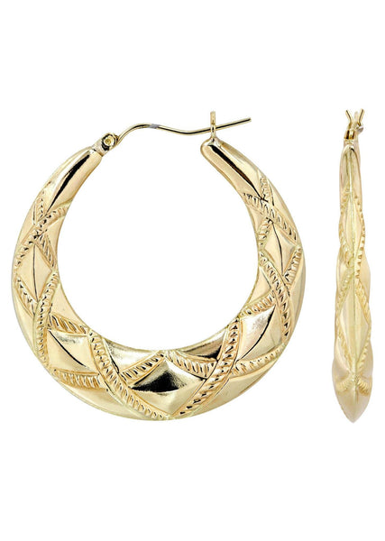 10K Gold  Hoop Earrings | Diameter 1.5 Inches