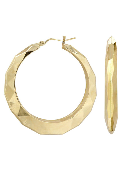 10K Gold  Hoop Earrings | Diameter 2 Inches