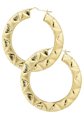 10K Gold  Hoop Earrings | Diameter 3 Inches