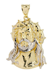Big Jesus Piece 10K Yellow Gold Pendant. | 12.4 Grams MEN'S PENDANTS FROST NYC