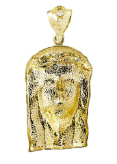 Big Jesus & Cz 10K Yellow Gold Pendant. | 37.9 Grams MEN'S PENDANTS FROST NYC