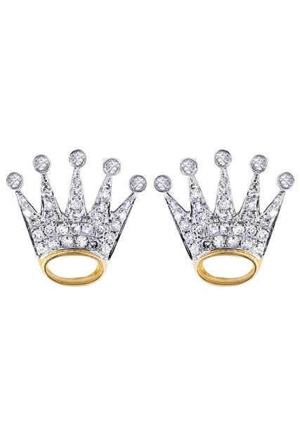 Diamond Earrings |  14K Yellow Gold  | 0.58 Carats