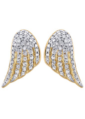 Diamond Earrings For Men |  14K Yellow Gold  | 1.56 Carats