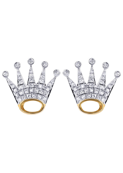 Diamond Earrings |  14K Yellow Gold  | 0.87 Carats