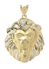 Big Lion   10K Yellow Gold Pendant. | 41.8 Grams
