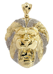 Big Lion 10K Yellow Gold Pendant. | 28.3 Grams