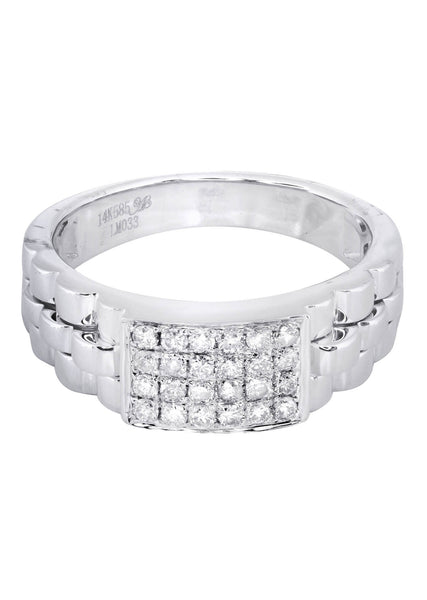Mens Diamond Ring| 0.43 Carats| 7.13 Grams