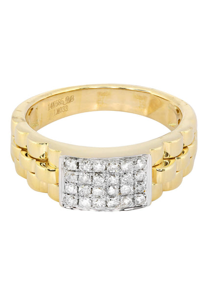 Mens Diamond Pinky Ring| 0.43 Carats| 7.05 Grams