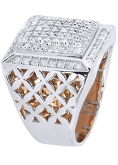 Mens Diamond Ring| 1 Carats| 16.55 Grams