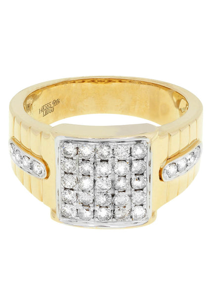 Mens Diamond Pinky Ring| 0.88 Carats| 9.59 Grams