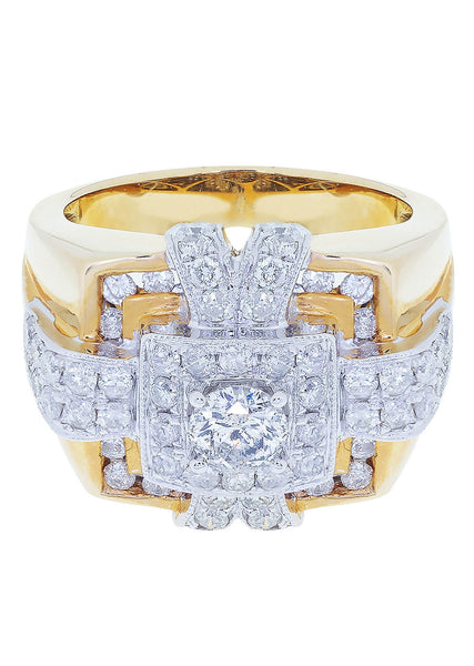 Mens Diamond Pinky Ring| 2.33 Carats| 15.21 Grams