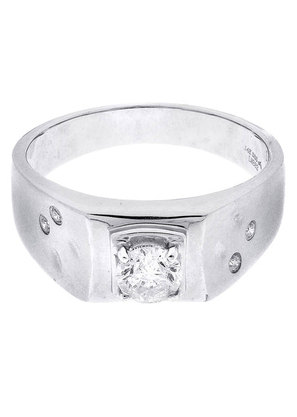 Mens Diamond Ring| 0.66 Carats| 6.36 Grams