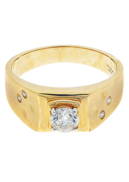 Mens Diamond Pinky Ring| 0.64 Carats| 6.24 Grams