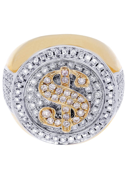 Mens Diamond Pinky Ring| 1.78 Carats| 17.08 Grams