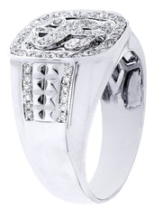 Mens Diamond Ring| 0.86 Carats| 11.07 Grams