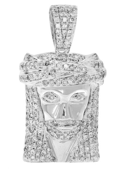 Diamond Jesus Piece | 11.34 Grams | 1.87 Carats