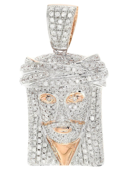 Diamond Jesus Piece | 12.69 Grams | 2.03 Carats