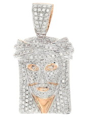 Diamond Jesus Piece | 12.69 Grams | 2.03 Carats MEN'S PENDANTS FROST NYC