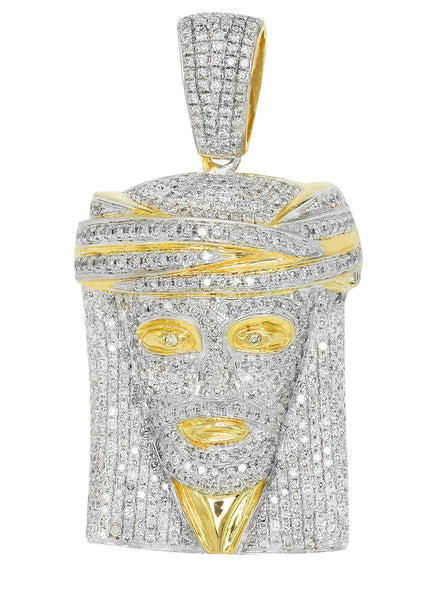Diamond Jesus Piece | 26.72 Grams | 3.71 Carats