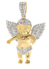 Diamond Angel Pendant | 10.5 Grams | 0.83 Carats