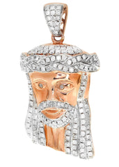 Diamond Jesus Piece | 11.34 Grams | 1.17 Carats