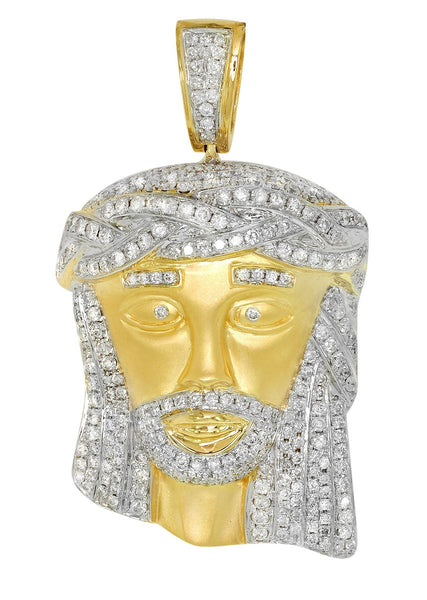Diamond Jesus Piece | 36.76 Grams | 4.86 Carats