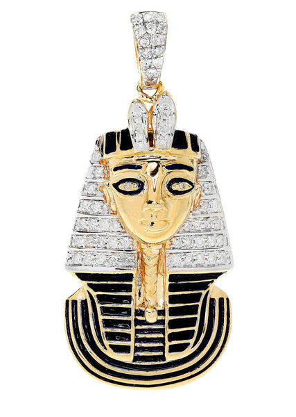Diamond Pharoh Pendant | 22.35 Grams | 0.83 Carats