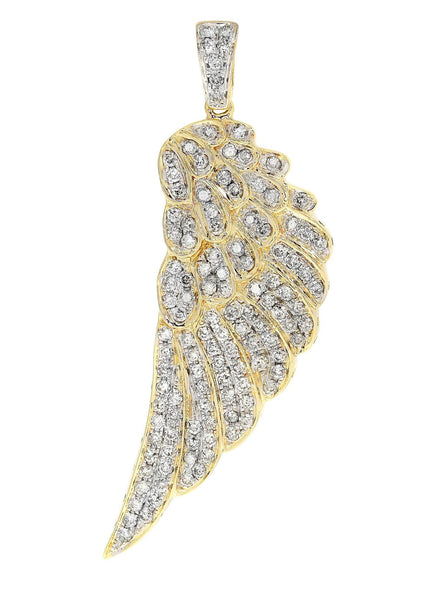 Diamond Angel Wing Pendant | 9.13 Grams | 1.5 Carats