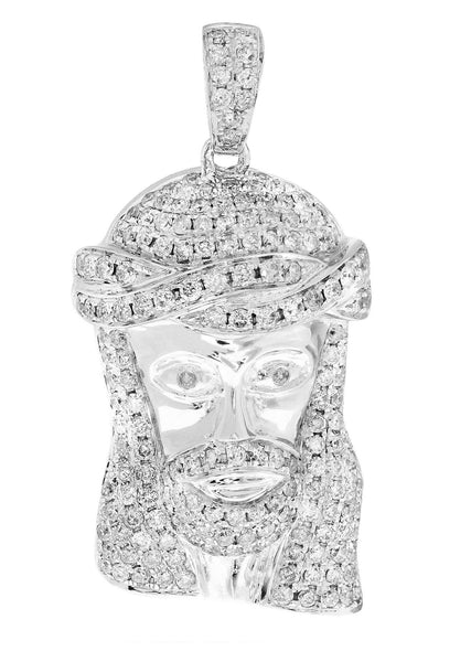 Diamond Jesus Piece | 16.83 Grams | 2.23 Carats