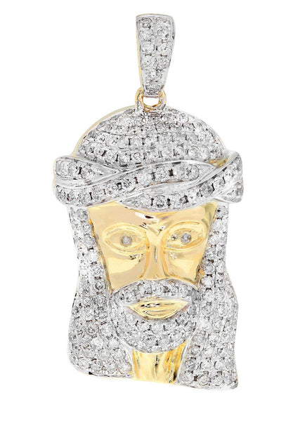 Diamond Jesus Piece | 12.48 Grams | 2.43 Carats