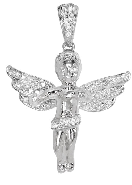 Diamond Angel Pendant | 4.77 Grams | 0.59 Carats