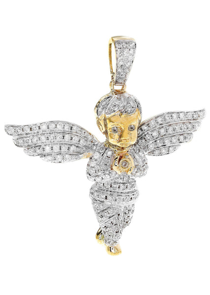 Diamond Angel Pendant | 9.75 Grams | 1.88 Carats
