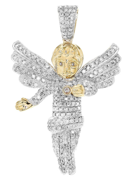 Diamond Angel Pendant | 13.09 Grams | 2.77 Carats