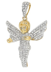 Diamond Angel Pendant | 4.14 Grams | 0.81 Carats