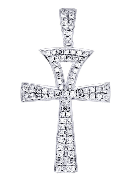 Diamond Ankh Pendant | 1.08 Carats | 2.52 Grams