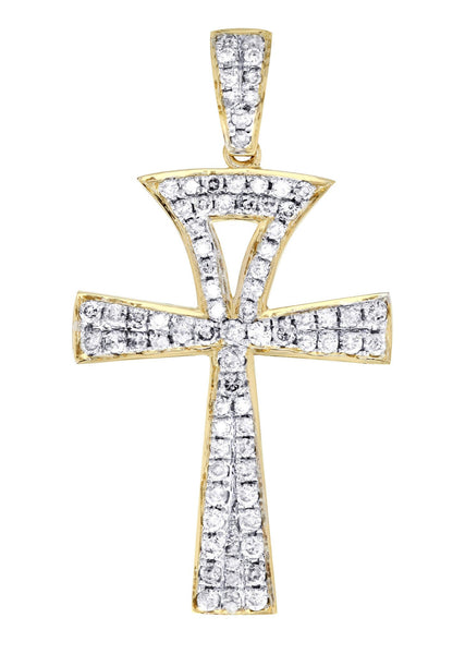 Diamond Ankh Pendant | 1.07 Carats | 2.36 Grams