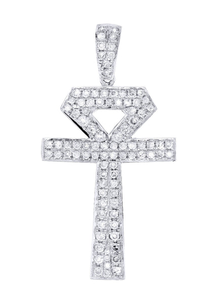 Diamond Ankh Pendant | 1.1 Carats | 2.52 Grams