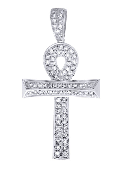 Diamond Ankh Pendant | 0.47 Carats | 3.44 Grams