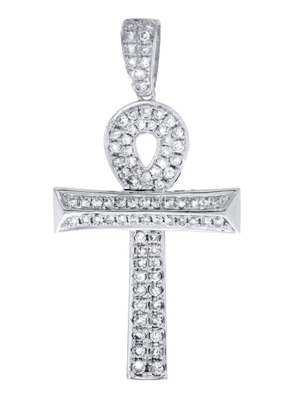 Diamond Ankh Pendant | 0.9 Carats | 3.44 Grams