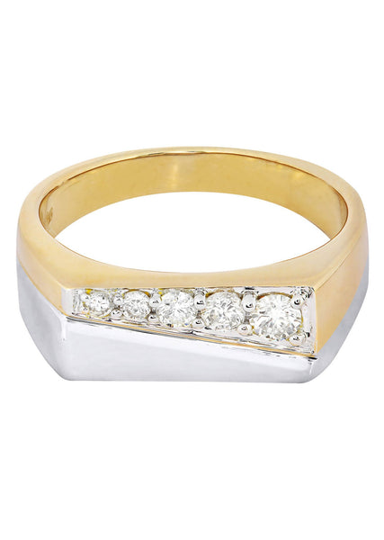Mens Diamond Pinky Ring| 0.38 Carats| 9.39 Grams